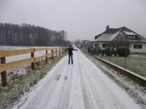 First snow walk of the season.