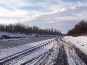 Autobahn snow driving