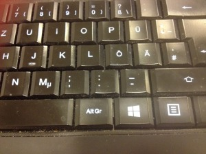 where is the AltGr key