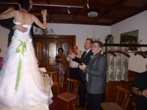The bride must dance on the table