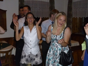 Oh yeah I'm really getting into those Austrian songs... and that's the groom's vest I'm wearing