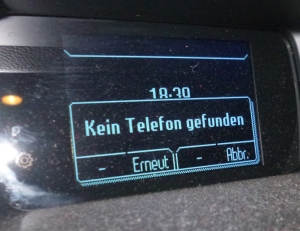 Car talks to phone