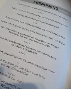 Can't read menu