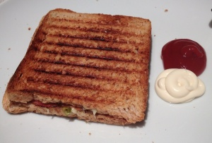 Toastie with sauce and mayo