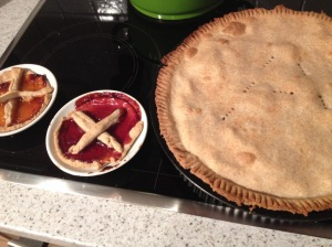 First pie attempt in a tart dish... unacceptable.
