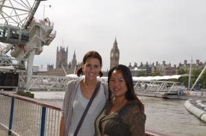 Catching up with an old friend in London