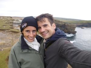 It was a little windy on the Orkney Islands