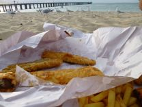 Fish n chips on the beach