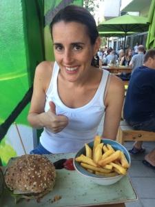Fulfilling a dream - eating a hamburger in Hamburg!