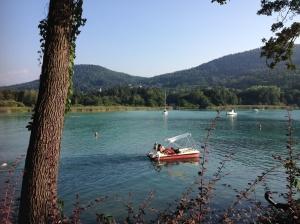 It's pretty serene chugging around the lake