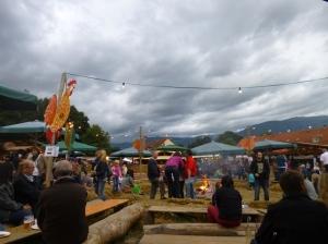Lederhosen, haybales, food, fire... it's all part of a summerfest!