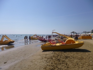 I can't wait to try out one of these epic paddling boats... complete with a slide!