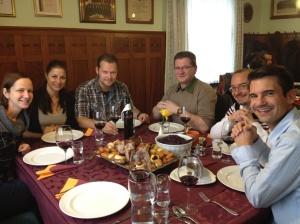 Eating goose in Austria