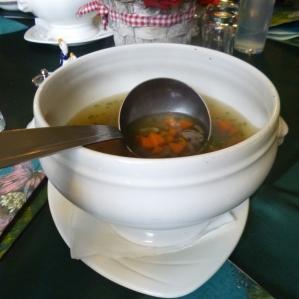 Goose-liver soup