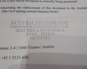 At least the Australian embassy in Austria loves stamps as much as Austrians do!