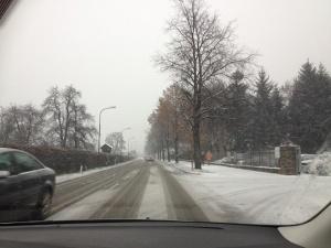 Snow driving Austria