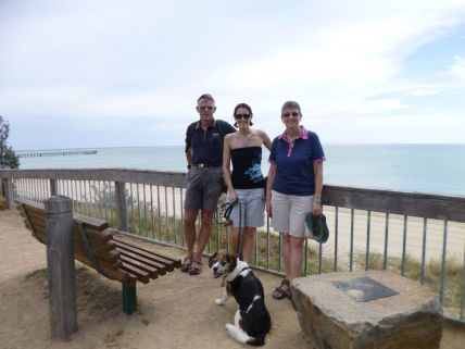 Dog walk australia beach