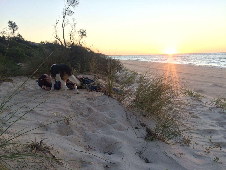 Australia sunset beach walk