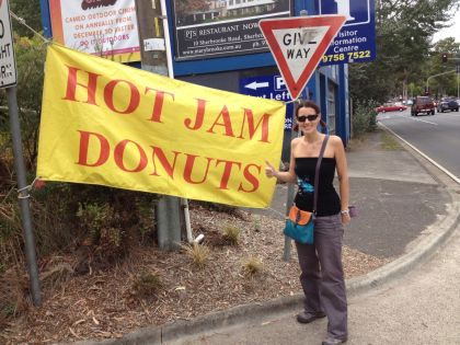 Dirty hot jam donut van