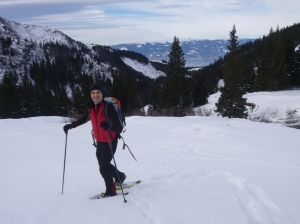 snow shoe hiking