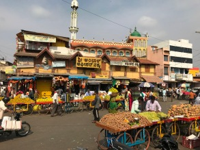 India traffic streets markets