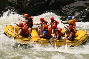 Getting old white water rafting