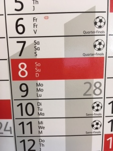 wall calendar world cup