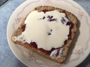 bread jam and cream