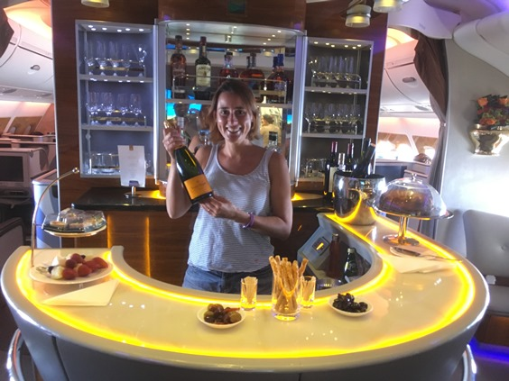 Business Class bar A380