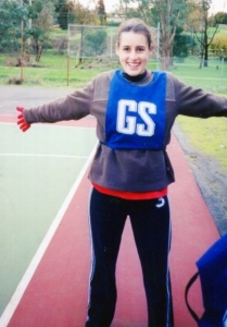not sporty playing netball