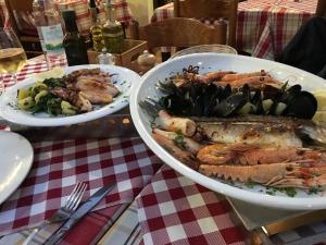 Rovinj, Croatia seafood platter