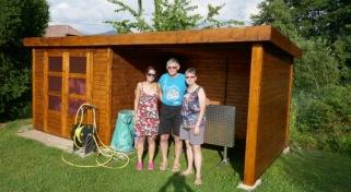 garden hut painting
