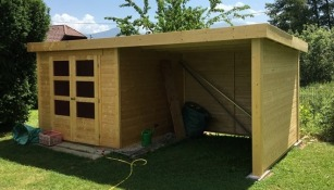 hut unpainted