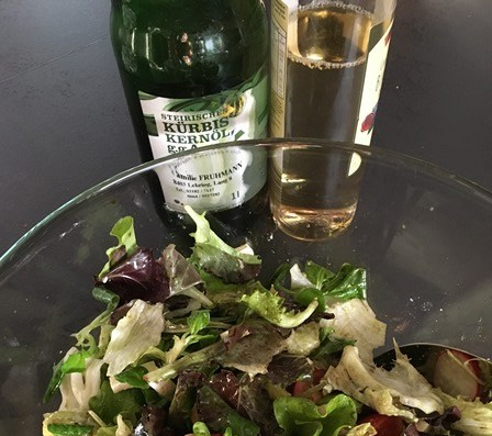 pumpkin seed oil salad