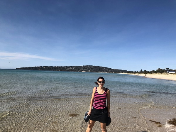 On the beach in Safety beach, Australia