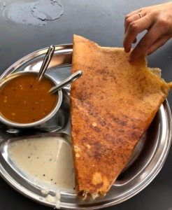Street food in India - dosa