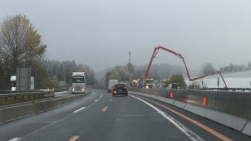 Roadworks in Austria on the autobahn