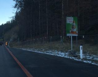 Roadworks in Austria on the autobahn cute signs