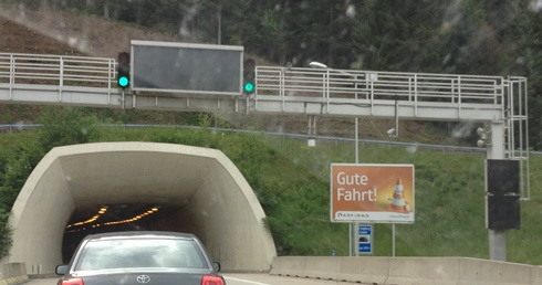 Roadworks in Austria on the autobahn