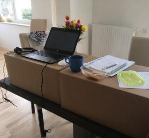 First standing desk